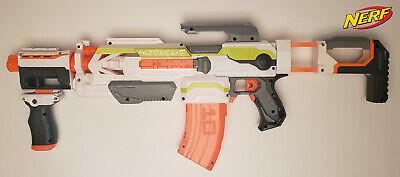 NERF N-Strike Semi Auto Modulus ECS-10 w/ 10 Dart Banana Magazine & Attachments