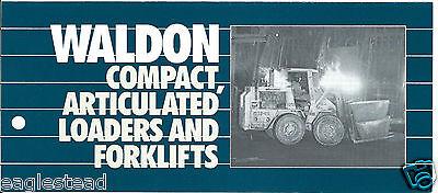 Fork Lift Truck Brochure Waldon 4100 Et Al Product Line Overview Loader Lt254