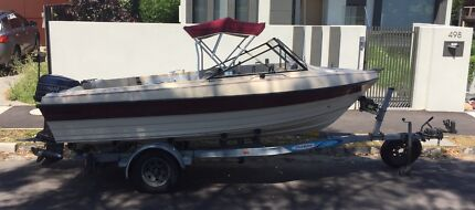 Swiftcraft Sabre 4.8m runabout, good condition