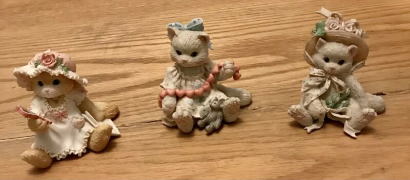 COLLECTIBLE BEATIFUL CALICO KITTENS SET OF 3 RARE