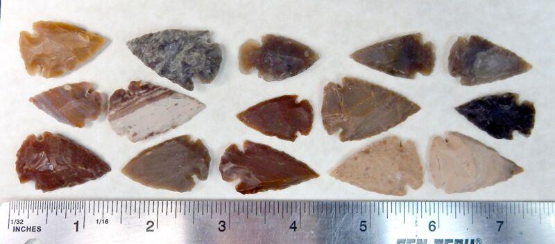 100pcs Arrowheads - Bow Points - Spearhead - Flint Stone Collection