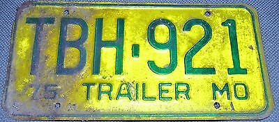 1975 Missouri trailer license plate, vintage_________4622/9 E