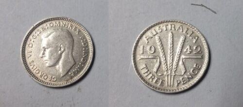 Rare 1942 M Australia Silver 3 P