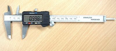 "Electronic LCD Digital Vernier Caliper Gauge 6"" /150mm Stainless Steel"