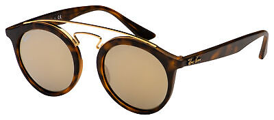 Ray-Ban Gatsby Sunglasses RB 4256 60925A 46 Tortoise / Gold | Gold Mirror (Gatsby Mirror)