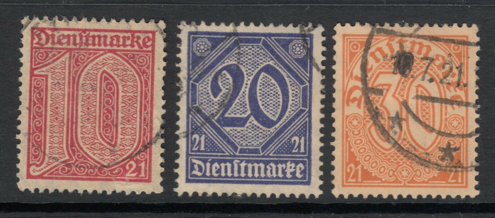 USED GERMAN LOCAL OFFICIALS FOR USE IN PRUSSIA OL10/OL12-13 CV 4.30 - $2.95