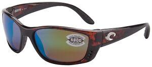 Costa Del Mar Fisch Sunglasses FS-10-OGMGLP 580G Tortoise Green Polarized Lens