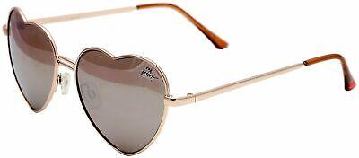 Betsey Johnson Womens Bronze Heart Shaped Sunglasses One Size Bronze (Johnson Sunglasses)