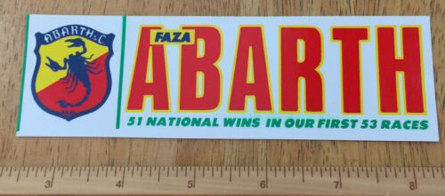 Faza Abarth 51 National Wins In Our First 53 Races. Rare Original Racing Stuck