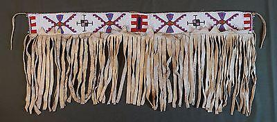 Very Rare 1890's Native American Plains Crow Cheyenne Arapaho Beaded Dance Skirt