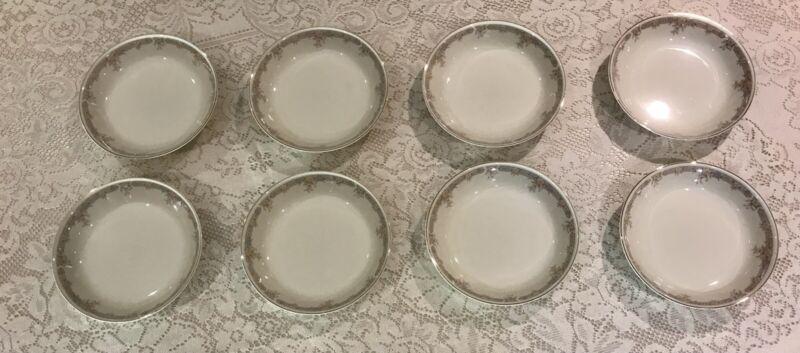 Lot Of 8 Sango Regency Collection Monroe Soup Bowls Japan #1500