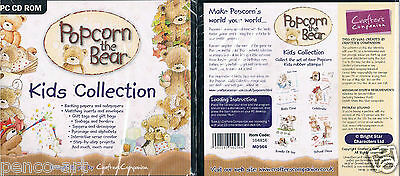 Crafters Companion Popcorn the teddy bear & friends PC CDrom Kids collection