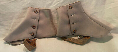 Spats, Gaiters, Puttees – Vintage Shoes Covers ANTIQUE SPATS VICTORIAN BUTTON SHOE COVERS ~ WOOL $25.00 AT vintagedancer.com