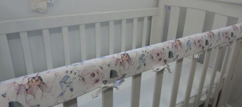 Floral Cot Rail Cover Savannah Rose Crib Teething Pad  x 1