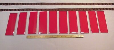 10 pcs. Glossy Ceramic Tiles *Liner/Sizzle *Ruby Red* by American Olean 2
