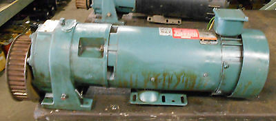 Reliance Electric 1.5 Hp Dc Motor T56h1024m-we W Speed Reducer Warranty