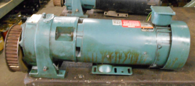 Reliance Electric 1.5 HP DC Motor, # T56H1024M-WE, w/ Speed Reducer, Warranty