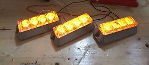 3 Strobe LED jaune