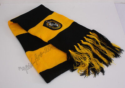Harry Potter Hufflepuff House Scarf  Soft Warm Costume Cosplay Xmas's Gift