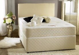 BRAND NEW ----KING SIZE DIVAN BED WITH LUXURY SUPER ORTHOPEDIC MATTRESS / ALSO IN DOUBLE & SINGLE