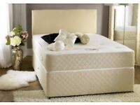 * MASSIVE CLEARANCE OFFER * GET IT TODAY DOUBLE OR KING DIVAN BED WITH DEEP QUILT MATTRESS