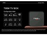 Latest android 5.1 T95m TV box with front display fully loaded with Kodi 16.1