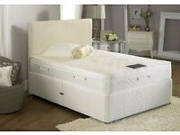 NEW LUXURY DIVAN BED SET ( MATTRESS + HEADBOARD OPTIONAL ) SIZES SINGLE ,DOUBLE, KING