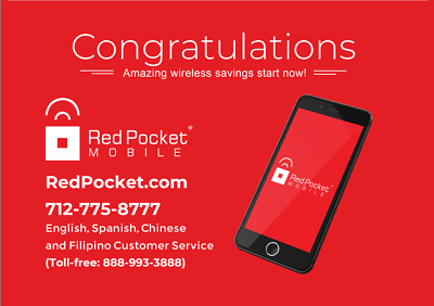 $18.33/Mo Red Pocket Prepaid Wireless Phone Plan+Kit: Unlmtd Everything 8GB LTE
