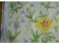"FABRIC - LIBERTY ""PIVOINE"". PALE YELLOW with YELLOW & MAUVE FLOWERS, Cotton. COLLECTION ONLY"