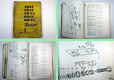 Zetor 4911 5911 5945 6911 6945  Traktor Ersatzteilliste Spare Parts 1978 na sprzedaż  Wysyłka do Poland