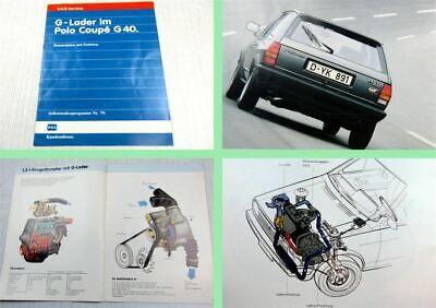 Gebraucht, SSP 79 G-Lader im VW Polo Coupe G40 1986 Selbststudienprogramm gebraucht kaufen  Beuna