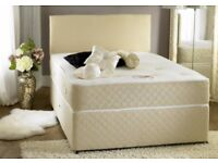 BEST SELLING BRAND! NEW DOUBLE DIVAN BED WITH MEMORY FOAM MATTRESS -- SAME DAY FAST DELIVERY