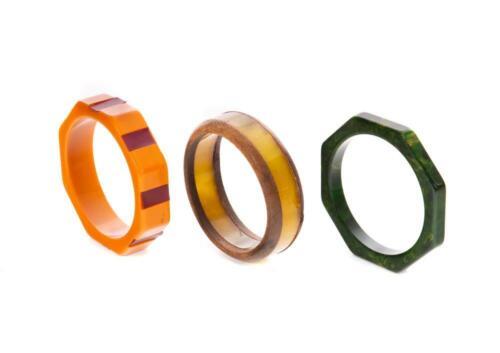 Lot of 3 Vintage Bakelite Bangle Bracelets