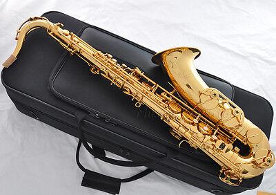 Professional gold Bb Taishan tenor sax high F# italian pads sax with case
