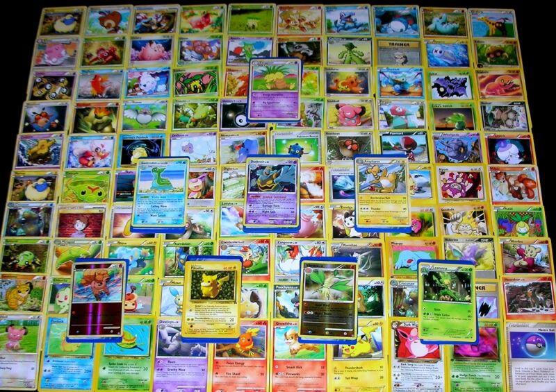 150 Pokemon Trading Cards With Foil Rare, Rares, Foils & Promo!