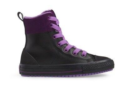 CONVERSE Asphalt High Top Sneaker Black/Purple For Girl NWB - High Converse Shoes For Girls