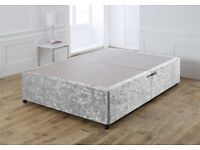 *+*NEW*DOUBLE CRUSHED VELVET ANTI-SLIP TOP SURFACE DIVAN BASE WITH COASTERS/DELIVERY AVAILABLE***