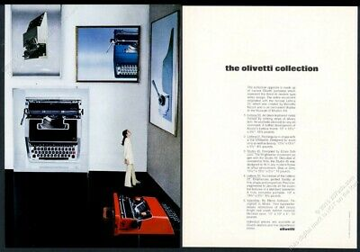 1970 Olivetti Valentine Lettera 33 31 32 Studio 45 typewriter photo print ad for sale  Shipping to Canada