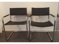 5 Black office chairs