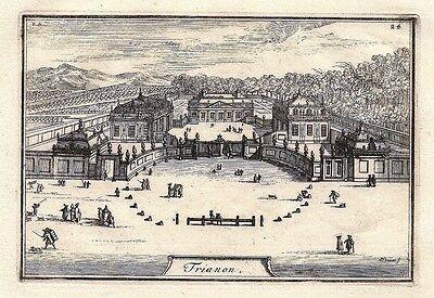 Antique engraving, Trianon