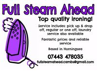 Ironing and laundry service * Friendly service, great rates, and fast turnaround!