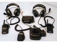 UHF Radios for sale 25w and 2 x handheld mobiles 5w with MSA sordin head phones passive with mics