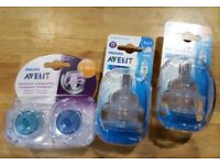 Avent Soothers and Bottle Teats Unopened