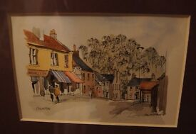 Watercolour Framed and Mounted Picture of Colinton.