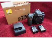 NIKON D750 BODY, IMMACULATE, BOXED