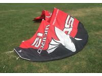 12m Kite with bar and board £450 or best offer!