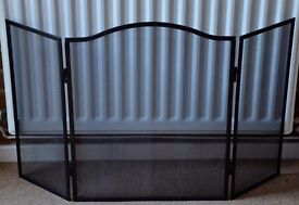 Black Folding Fire Guard- Main front panel 62 x 50 cms. Max size 90 x 62 cms £15