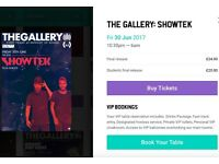 2 tickets for Showtek show at Ministry of sound on 30th June 2017