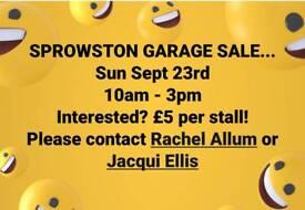 Sprowston community garage/ yard sale