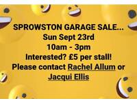 Sprowston community garage/ yard sale